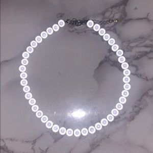 reflective bead necklace